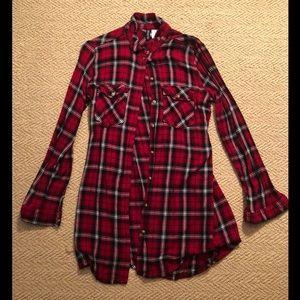 H&M Long Flannel Size 10